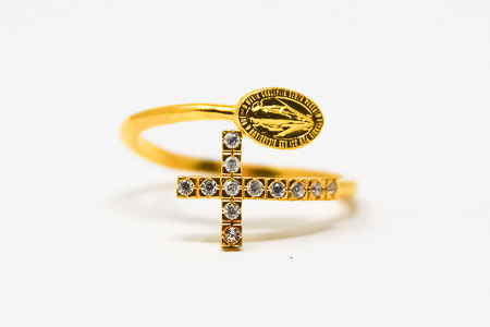 Miraculous Medal Gold Ring.
