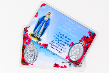 Miraculous Laminated Prayer Card & Medal.