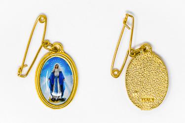 Miraculous Medal Brooch.