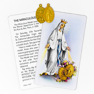 Miraculous Medal Prayer Card.