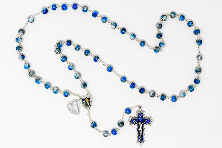 Miraculous Heart Rosary Beads
