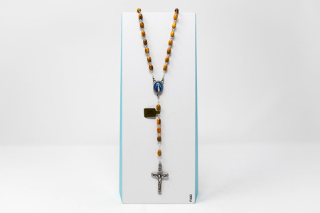 Miraculous Olive Wood Rosary Beads..