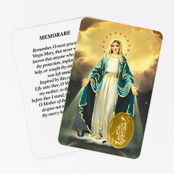 Miraculous Prayer Card.
