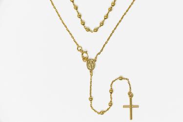 Multi Color 5 Decade Rosary Necklace.