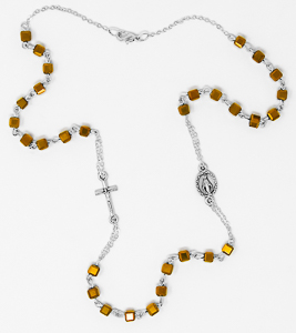 Miraculous Topaz Rosary Necklace