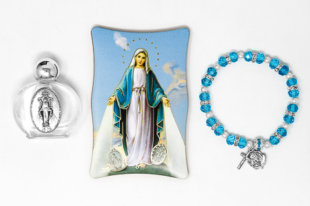 Miraculous Madonna & Lourdes Water Gift Set.
