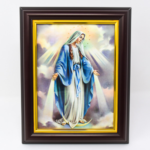 Miraculous Wood Framed Picture.