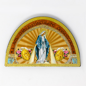 Miraculous Wood Plaque Icon.