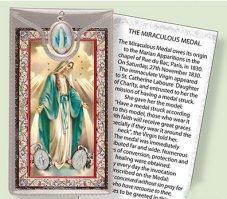 Miraculous Medal Prayer Card.