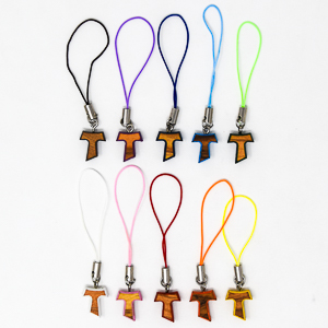 Wooden Cross Mobile Phone Charm.