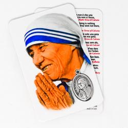Mother Teresa Prayer Card & Medal.