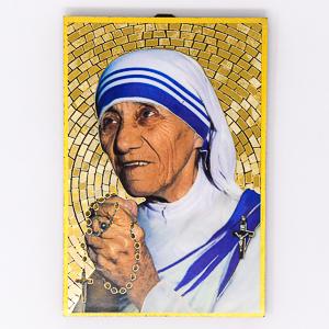 Mother Teresa Mosaic Wall Plaque..