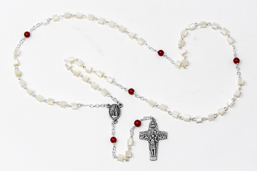 Mother of Pearl Lourdes Rosary Beads