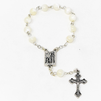 Mother of Pearl Handheld Rosary Beads.