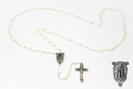 Mother of Pearl Lourdes Water Rosary.