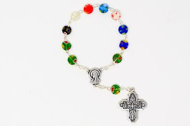 Murano Glass Decade Rosary Beads.