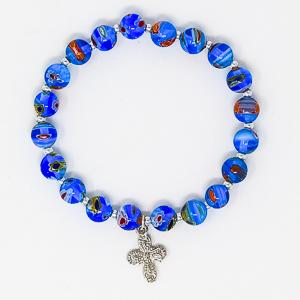 Blue Murano Rosary Bracelet.