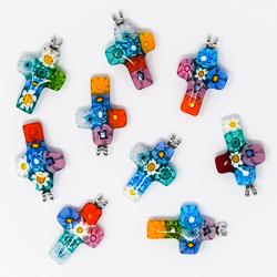 Murano Glass Tau Cross.