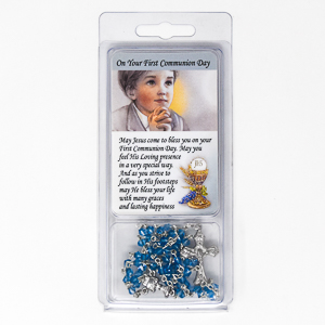 My First Communion Rosary and Prayer Card.