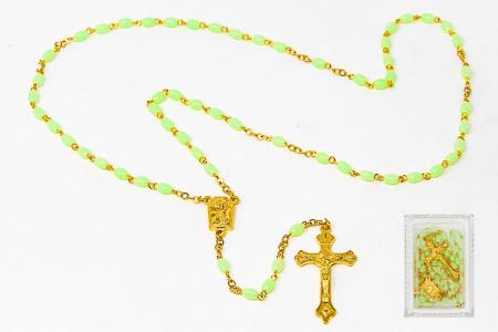 My Lourdes Water luminous Rosary Beads