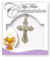 First Communion Cross Pearl Necklace.