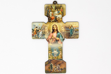 Last Supper Cross Wall Plaque.