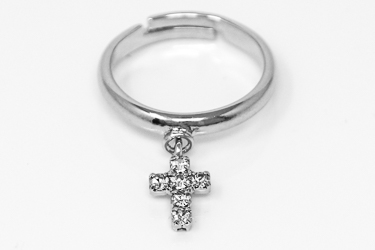Gold Cross Ring.