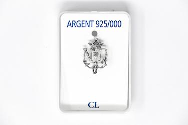 Notre Dame de Lourdes Emblem - Sterling Silver Pin