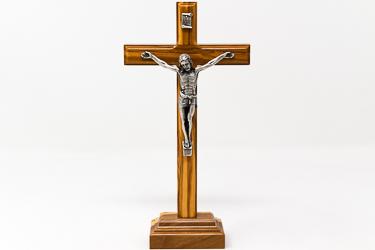 Olive Wood Standing Crucifix.