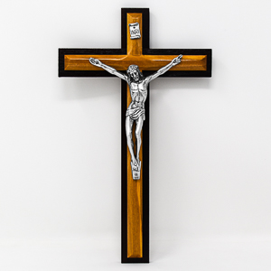 Solid Olive Wood Crucifix