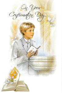 Confirmation Card for a Boy.