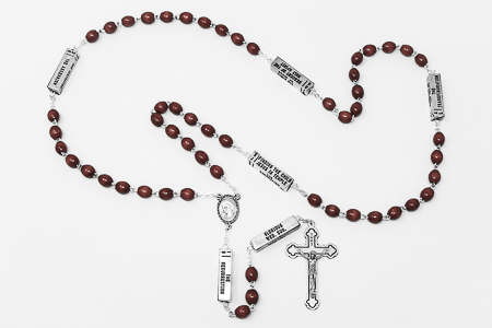 Wooden Our Father Rosary Beads.