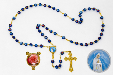 Our Lady of Fatima Blue Rosary Beads.