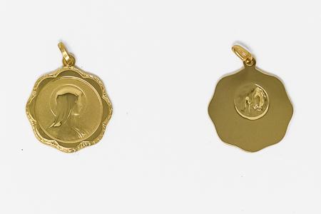 Our Lady of Lourdes 9 Karat Medal.
