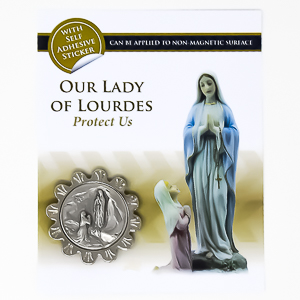 Our Lady of Lourdes Car Plaque.