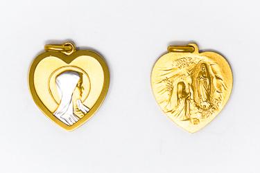 Our Lady of Lourdes Heart Pendant.