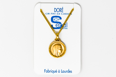 Our Lady of Lourdes Gold Necklace.