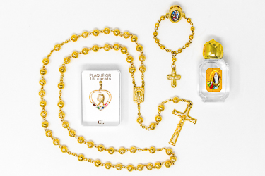 Lourdes Gold Rosary Gift Set.