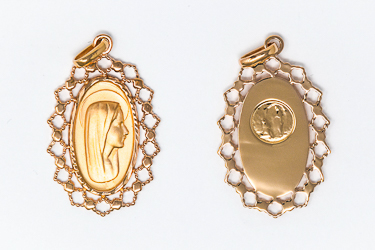 Direct from lourdes virgin mary pendants gold virgin mary pendant aloadofball Choice Image