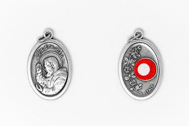 Saint Pio Relic Medal.