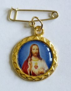 Sacred Heart of Jesus Lapel Pin.