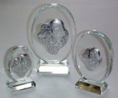 Lourdes Crystal Ornament.