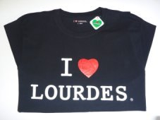 Men's Lourdes Black T-Shirt.