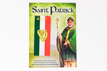 St.Patrick's Day Badge Harp Motif.