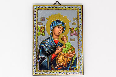 Our Lady of Perpetual Help Gold Foil Wall Plaque.