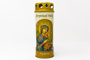 Perpetual Help Pillar Candle.