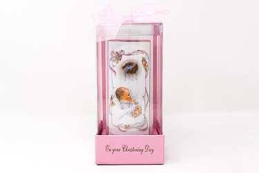 Christening Candle For a Girl.