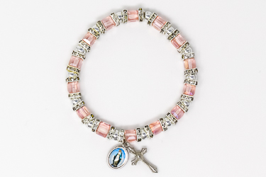 Pink Crystal Miraculous Bracelet.