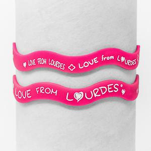 Lourdes Rubber Bracelet.