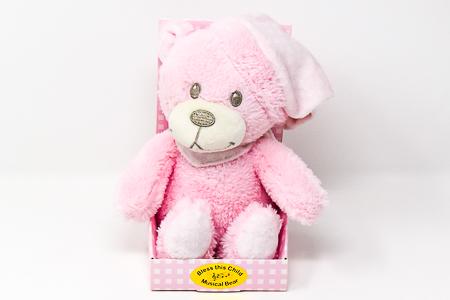 Pink Musical Baby Plush Bear.